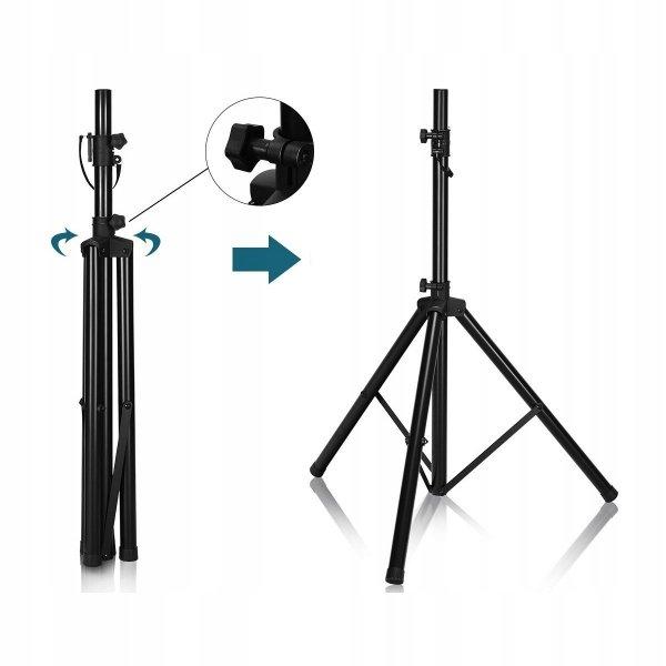 Regulowany statyw stojak pod głośnik kolumnę
