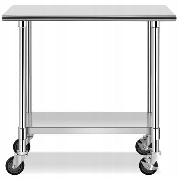 Metalowy wózek stolik kuchenny na kółkach