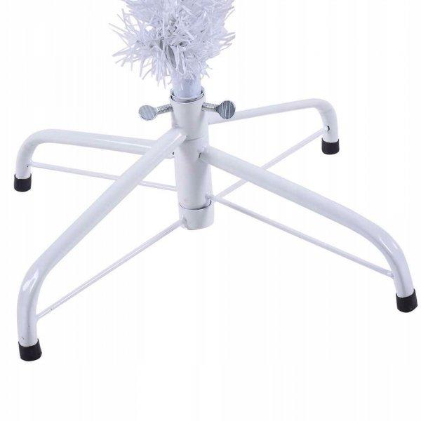 Sztuczna choinka biała ze stojakiem 210cm