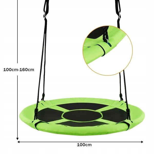 Huśtawka dla dzieci bocianie gniazdo  - zielona