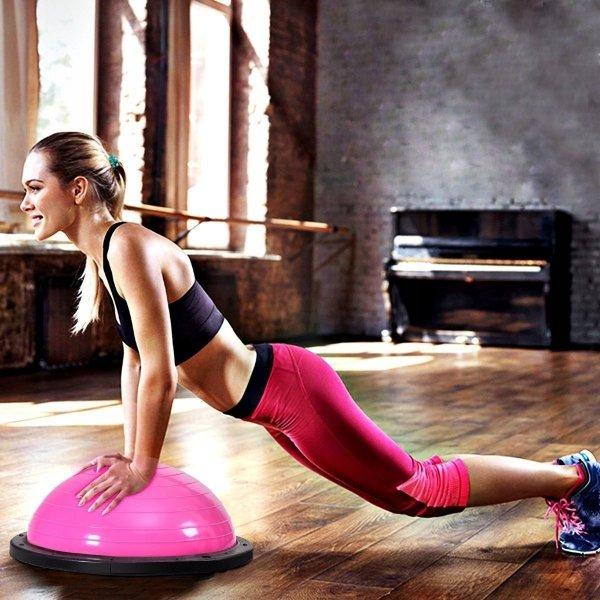 Piłka do balansowania z uchwytami trener równowagi