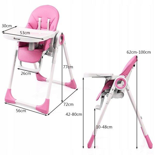 Krzesło do karmienia leżaczek 2w1