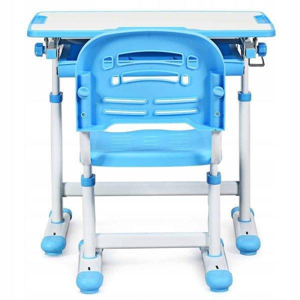 Stół kreślarski biurko szkolne z krzesłem dla dziecka blue