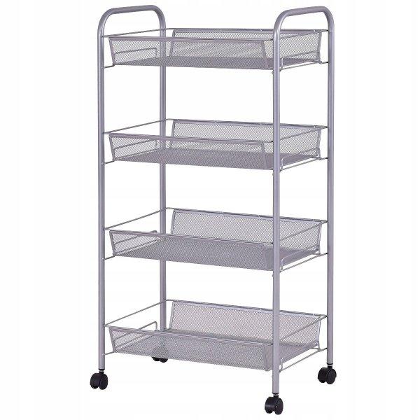 Wózek organizer na kółkach z 4 szufladami