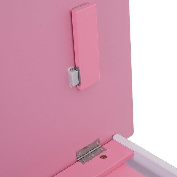 Biurko szkolne stół kreślarski dla dziecka pink