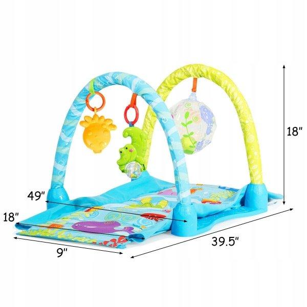 Mata edukacyjna interaktywna namiot zabawki 4w1