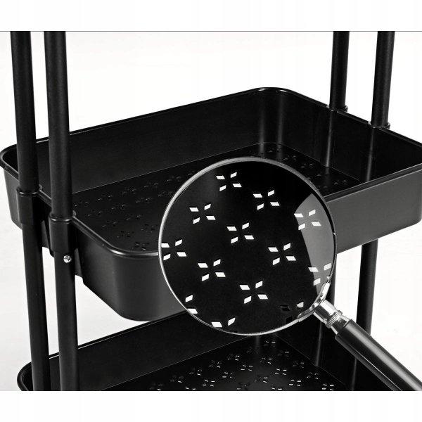 Wózek organizer na kółkach z 3 półkami