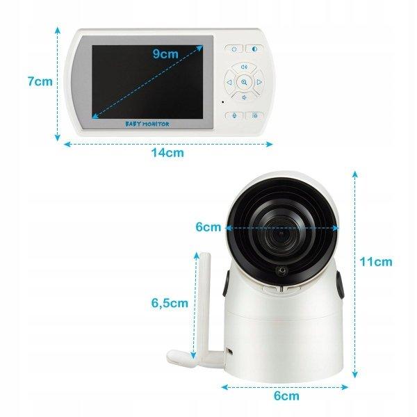 Niania elektroniczna baby monitor lcd z kamerą