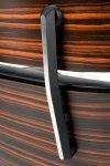 Fotel LOUNGE czarny, sklejka heban - skóra naturalna