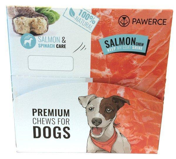 Pawerce Salmon Bone Large Breeds display 12x115g