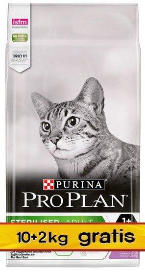 Purina Pro Plan Cat Sterilised Optirenal Turkey 12kg (10+2kg gratis)
