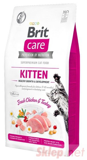 Brit Care Cat Grain Free Kitten Healthy Growth & Development 2kg