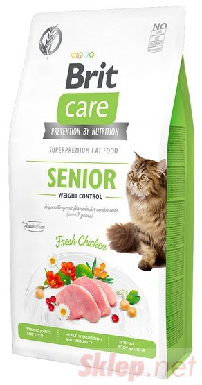 Brit Care Cat Grain Free Senior Weight Control 7kg