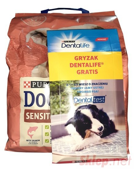 Purina Dog Chow Adult Sensitive Łosoś 2,5kg + gryzak Dentalife gratis
