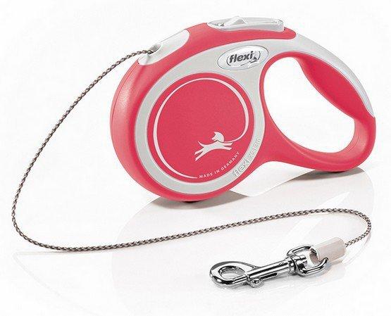 Flexi New Comfort Smycz linka XS 3m czerwona [FL-2724]