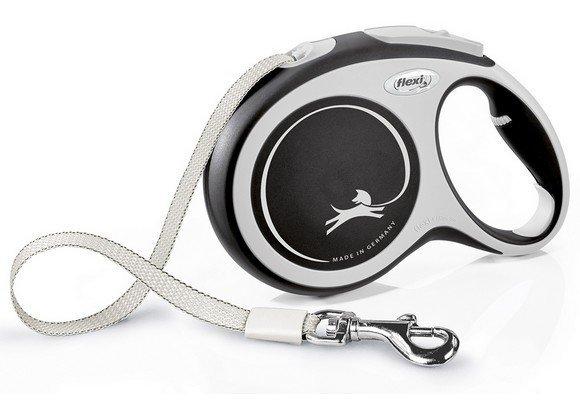 Flexi New Comfort Smycz taśma L 8m czarna [FL-3820]