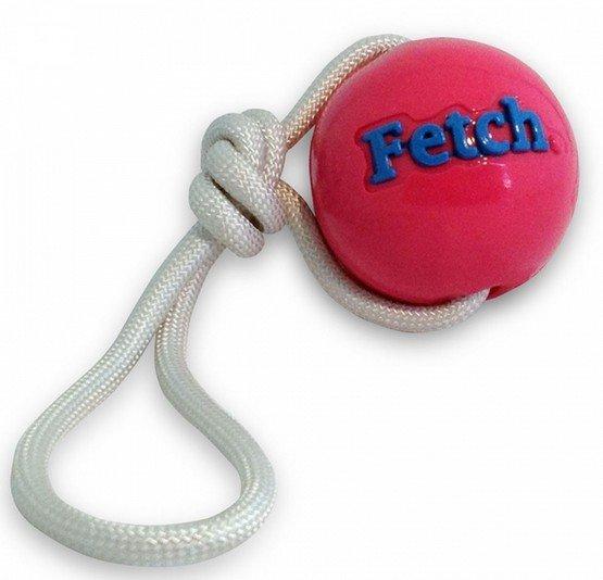 Planet Dog Fetch Ball piłka ze sznurem różowa [68735]