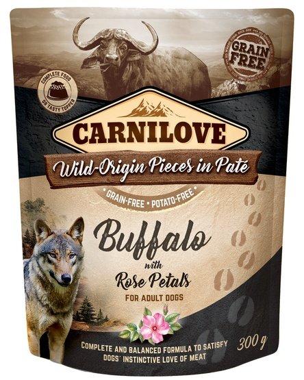 Carnilove Dog Buffalo & Rose Petals - bawół i płatki róży saszetka 300g