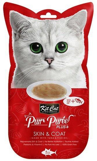 Kit Cat PurrPuree Plus+ Tuna Skin&Coat 4x15g
