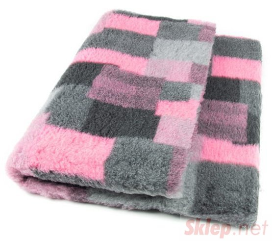 DryBed Posłanie Patchwork 75x50cm A+ róż-szary