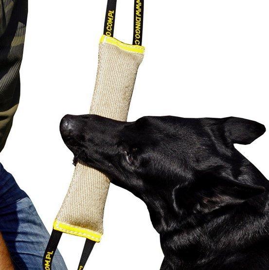 Dingo Zabawka dla psa - Szarpak z juty z dwoma uchwytami 28/6cm
