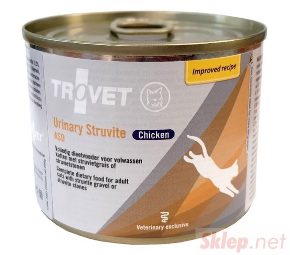 Trovet ASD Urinary Struvite dla kota kurczak puszka 200g