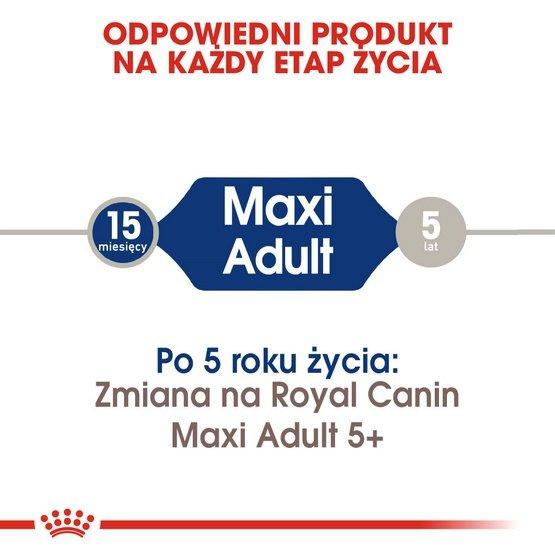 Royal Canin Maxi Adult karma sucha dla psów dorosłych, do 5 roku życia, ras dużych 15kg