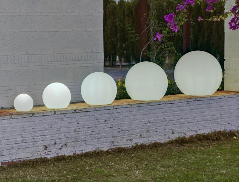 NEW GARDEN lampa ogrodowa BULY 30 biała - LED