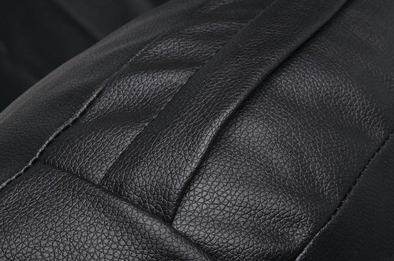 Fotel wiszący BUBBLE poduszka  czarna - korpus akryl, poduszka ekoskóra