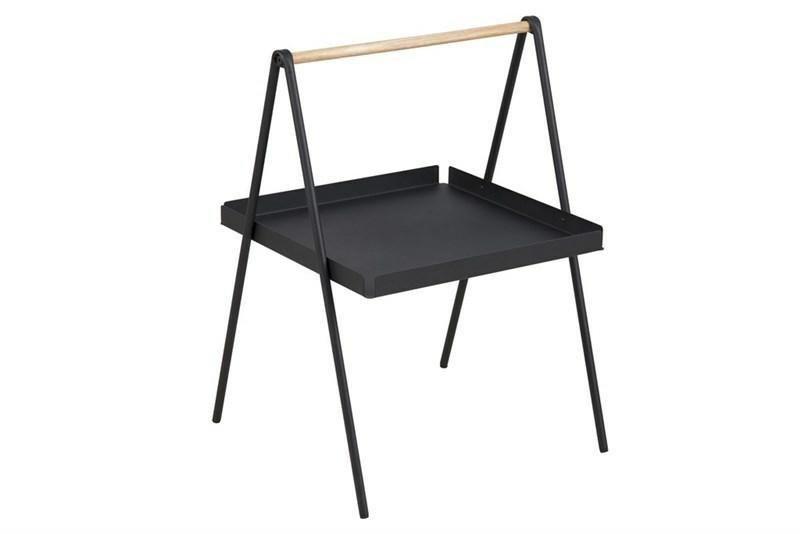 ACTONA stolik kawowy SLOP czarny - metal, drewno