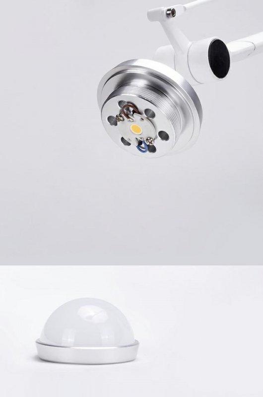 Kinkiet RAYON ARM WALL biały - LED, klosz z tkaniny