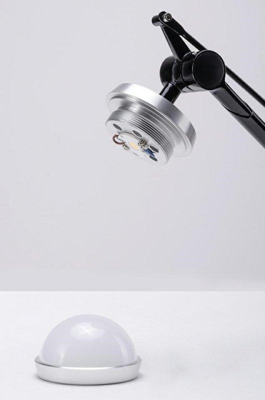 Kinkiet RAYON ARM WALL czarny - LED, klosz z akrylu