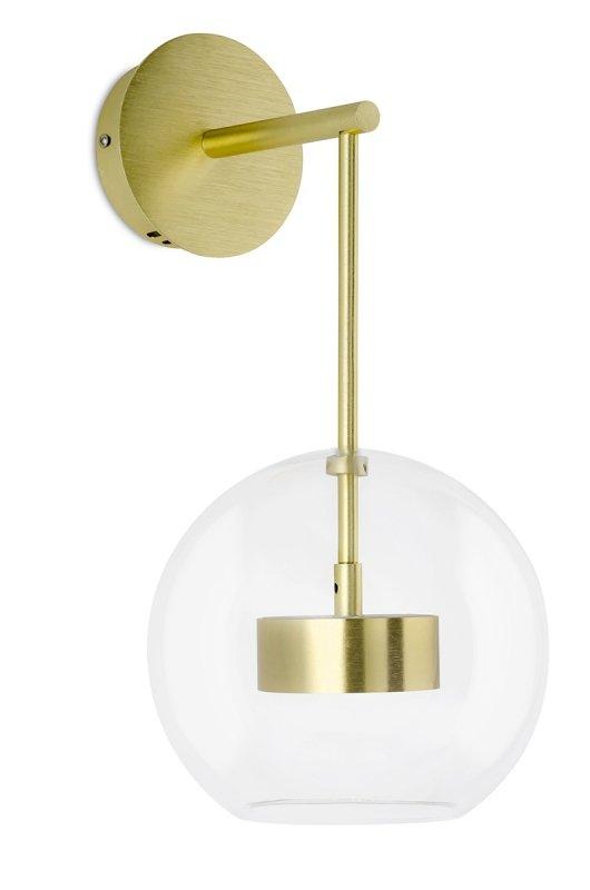 Kinkiet CAPRI WALL złoty - 60 LED, aluminium, szkło