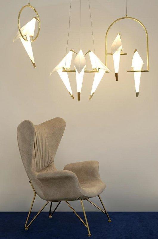 Lampa wisząca LORO 3 UP złota - LED