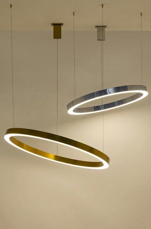 Lampa wisząca RING 100 złota - LED, stal