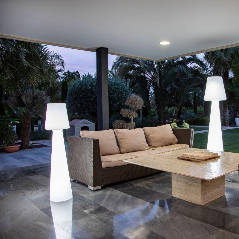 NEW GARDEN lampa podłogowa LOLA 110 biała - LED, wbudowana bateria, RGB+pilot