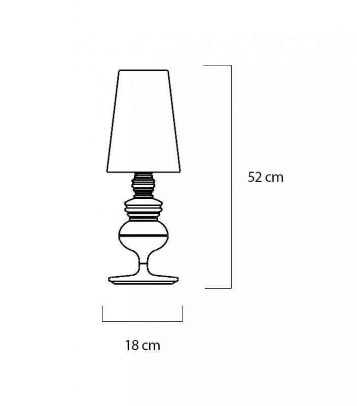 Lampa biurkowa QUEEN 18 czarna