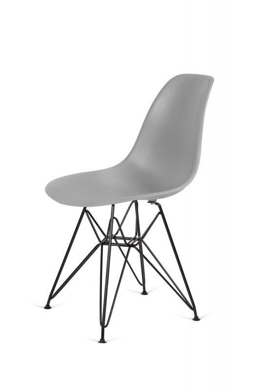 Krzesło DSR BLACK szary.30 - podstawa metalowa czarna