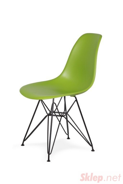 Krzesło DSR BLACK soczysta zieleń.13 - podstawa metalowa czarna