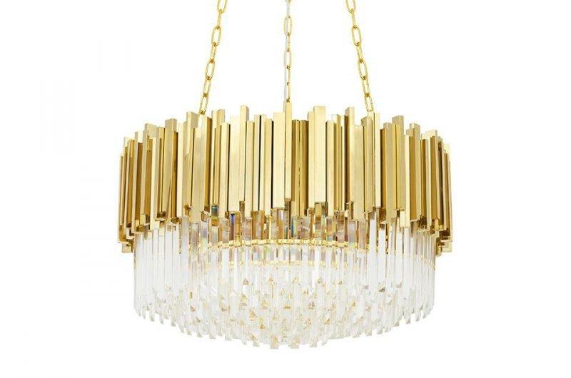 Lampa wisząca IMPERIAL GOLD 60 - stal, kryształ