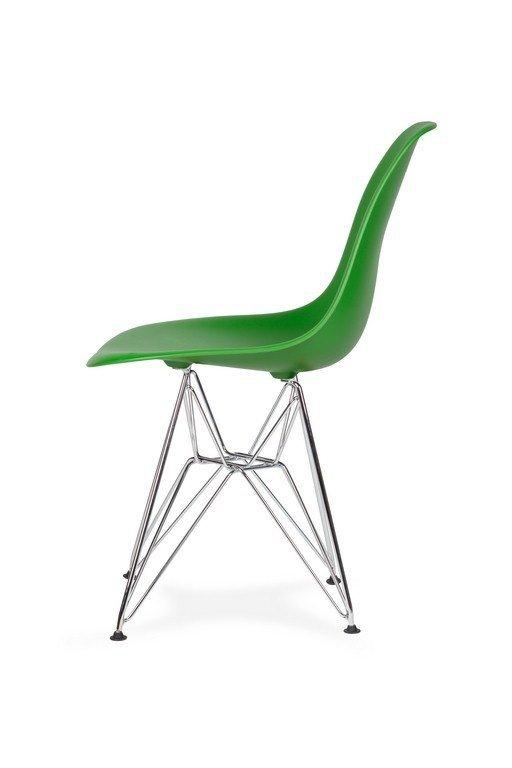 Krzesło DSR SILVER irlandzka zieleń.21 - podstawa metalowa chromowana