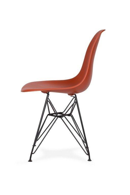 Krzesło DSR BLACK ceglasty.28 - podstawa metalowa czarna