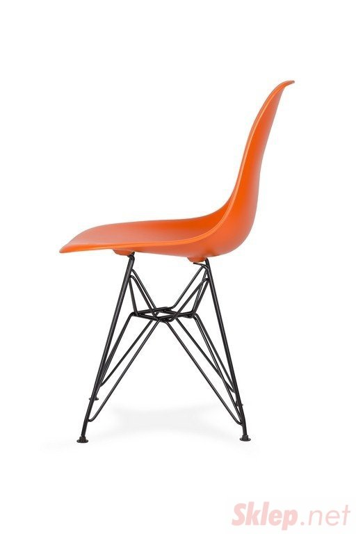 Krzesło DSR BLACK sycylijska pomarańcz .08 - podstawa metalowa czarna