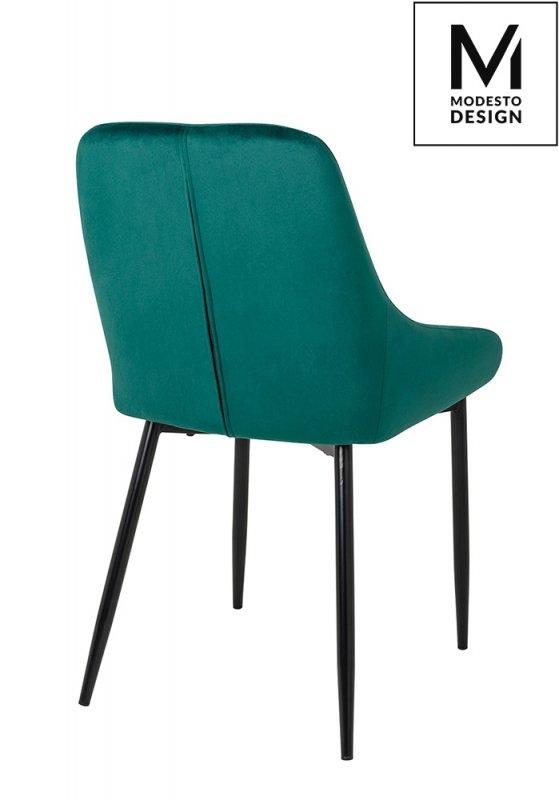 MODESTO krzesło CLOVER zielone - welur, metal
