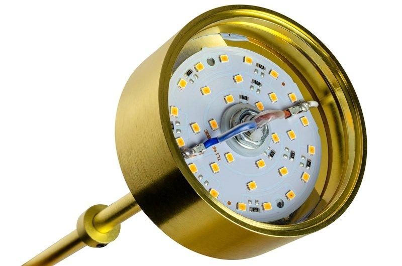 Lampa podłogowa CAPRI FLOOR złota - 60 LED, aluminium, szkło, marmur