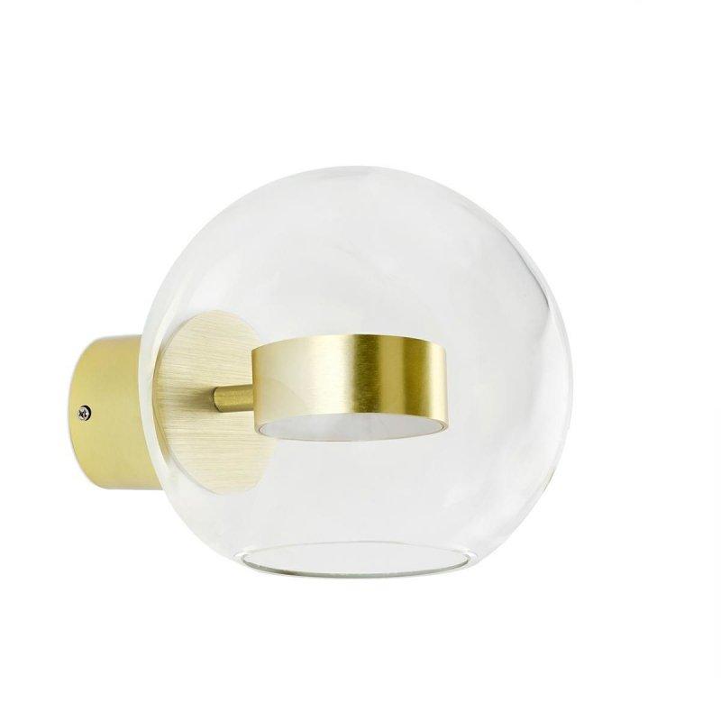 Kinkiet CAPRI WALL 1 złoty - 60 LED, aluminium, szkło