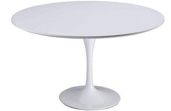 Stół TULIP PREMIUM 120 biały - MDF, metal