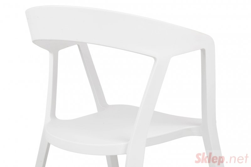 Krzesło VIBIA białe - polipropylen