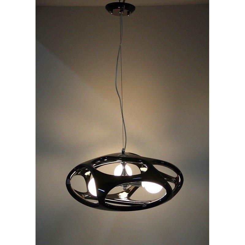 Lampa wisząca NETO 3 czarna - tworzywo sztuczne, metal