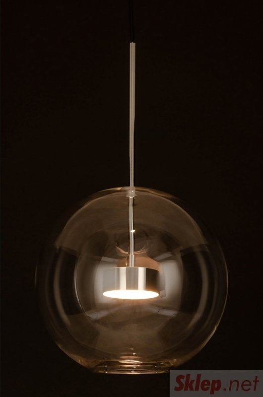 Lampa wisząca CAPRI chrom - 60 LED, aluminium, szkło